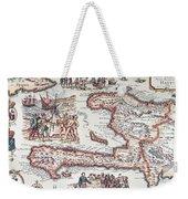Map Of The Island Of Haiti Weekender Tote Bag