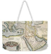 Map Of The Middle East From The Sixteenth Century Weekender Tote Bag