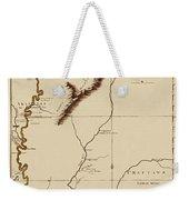 Map Of The Mississippi Riverr 1775 Weekender Tote Bag