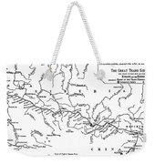 Map Of The Trans-siberian Railway Weekender Tote Bag