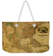 Map Of The United States 1849 Weekender Tote Bag