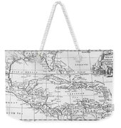 Map Of The West Indies Florida And South America Weekender Tote Bag by English School