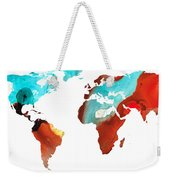 Map Of The World 4 -colorful Abstract Art Weekender Tote Bag
