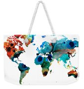 Map Of The World 6 -colorful Abstract Art Weekender Tote Bag