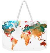 Map Of The World 7 -colorful Abstract Art Weekender Tote Bag