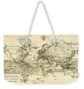 Map Of The World Using The Mercator Projection Weekender Tote Bag