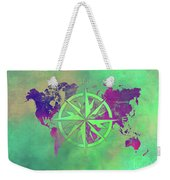 Map Of The World Wind Rose 3 Weekender Tote Bag