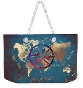 Map Of The World Wind Rose 4 Weekender Tote Bag