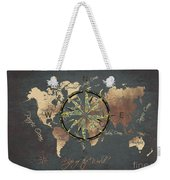 Map Of The World Wind Rose 5 Weekender Tote Bag