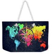 Map Of The World Wind Rose 6 Weekender Tote Bag