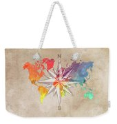Map Of The World Wind Rose 7 Weekender Tote Bag