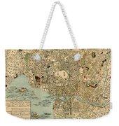 Map Of Tokyo 1854 Weekender Tote Bag