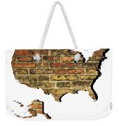 Map Of Usa And Wall. Weekender Tote Bag
