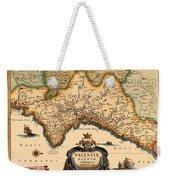 Map Of Valencia 1634 Weekender Tote Bag