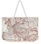 Map: Thirty Years War Weekender Tote Bag