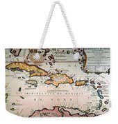 Map: West Indies Weekender Tote Bag