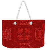 Maple Leaf Filigree Tiled Pattern Weekender Tote Bag