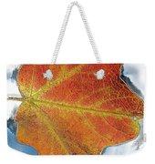 Maple Leaf On Water Weekender Tote Bag