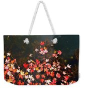 Maple Leaves On The Water  Weekender Tote Bag