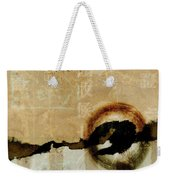 Mapping The Mountains Mixed Media Weekender Tote Bag