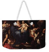 Maratti Carlo Madonna And Child Enthroned With Angels And Saints Weekender Tote Bag