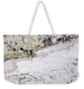 Marble Black Tan Pink Weekender Tote Bag