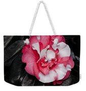 Marble Camellia Weekender Tote Bag