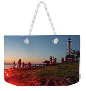 Marblehead Harbor Illumination 2017 Chandler Hovey Lights Lighthouse Weekender Tote Bag