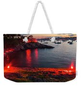 Marblehead Harbor Illumination 2017 Chandler Hovey Weekender Tote Bag