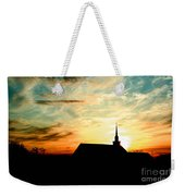 March Church Sunset  Weekender Tote Bag