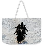 March Of Penguins Weekender Tote Bag