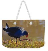 March Of The Swamphen Weekender Tote Bag by Mike  Dawson