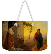 Maria Sister Of Lazarus Meets Jesus Who Is Going To Their House Weekender Tote Bag