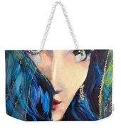 Mariah Blue Weekender Tote Bag
