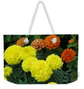 Marigold And Zinnias Weekender Tote Bag