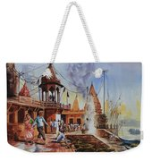 Marikarnika Ghat Varanasi Weekender Tote Bag