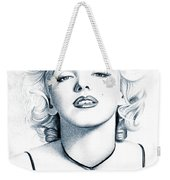 Marilyn Black And White Weekender Tote Bag