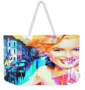 Marilyn In Italy Weekender Tote Bag