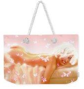 Marilyn M. In Bed Weekender Tote Bag