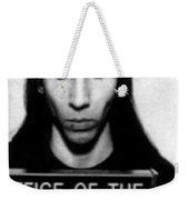 Marilyn Manson Mug Shot Vertical Weekender Tote Bag