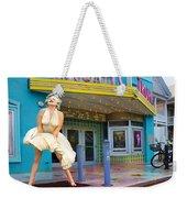 Marilyn Monroe In Front Of Tropic Theatre In Key West Weekender Tote Bag