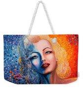 Marilyn Monroe Original Acrylic Palette Knife Painting Weekender Tote Bag