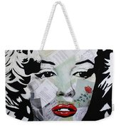 Marilyn Monroe Red Flower Weekender Tote Bag