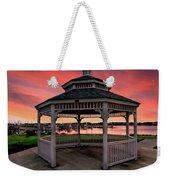 Marina Gazebo Sunset Weekender Tote Bag