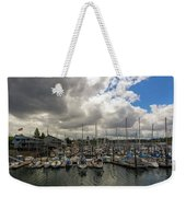 Marina In Olympia Washington Waterfront Weekender Tote Bag