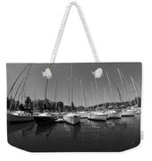 Marina On Lake Murray S C Black And White Weekender Tote Bag