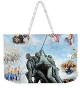 Marine Corps Art Academy Commemoration Oil Painting By Todd Krasovetz Weekender Tote Bag