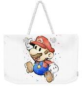 Mario Watercolor Fan Art Weekender Tote Bag