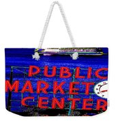 Market Clock And Ferry  Weekender Tote Bag