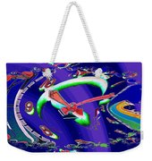 Market Clock In Fractal Weekender Tote Bag
